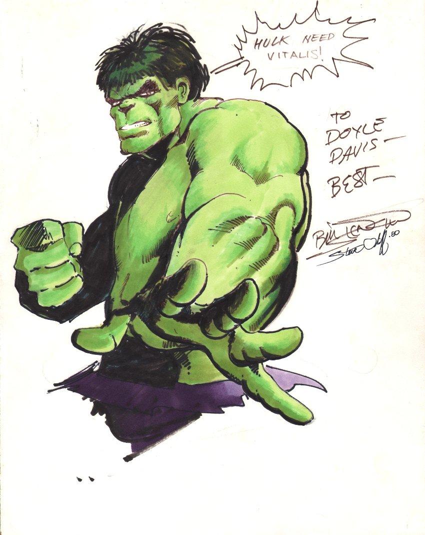 Incredible Hulk Hand Colored Pinup (1980)