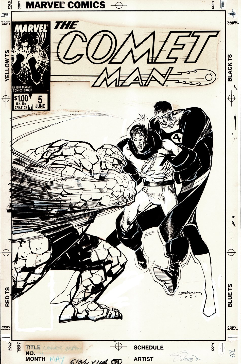 Comet Man #5 Cover (1987)