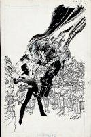Comet Man #2 Cover (1986) Comic Art