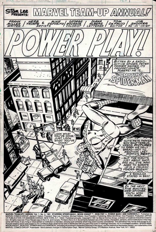 Marvel Team-Up Annual #4 p 1 SPLASH (1981)