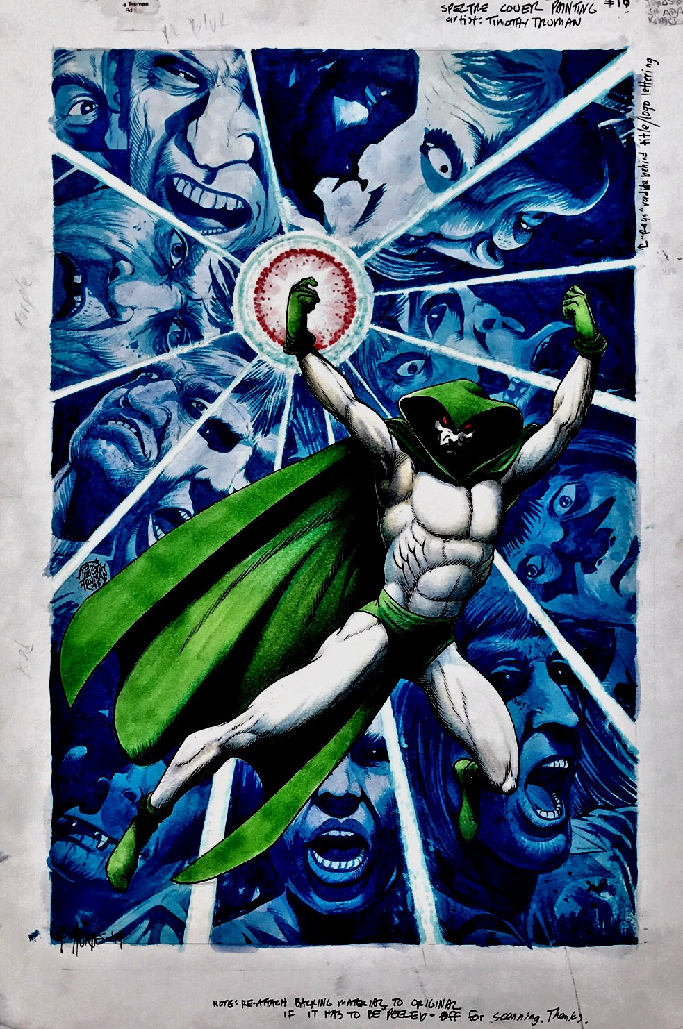 The Spectre #15 Cover Painting (Very Large) 1993