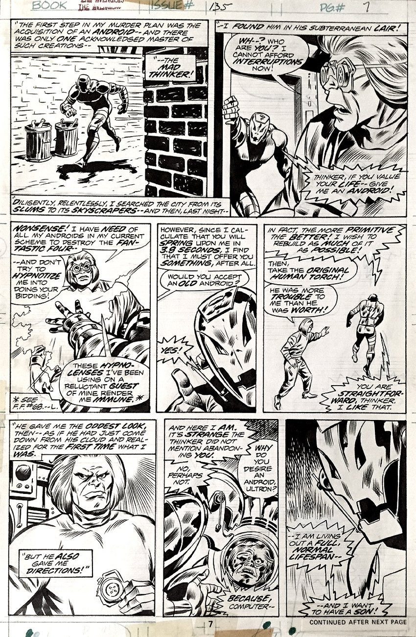 Avengers #135 p 7 (1975)