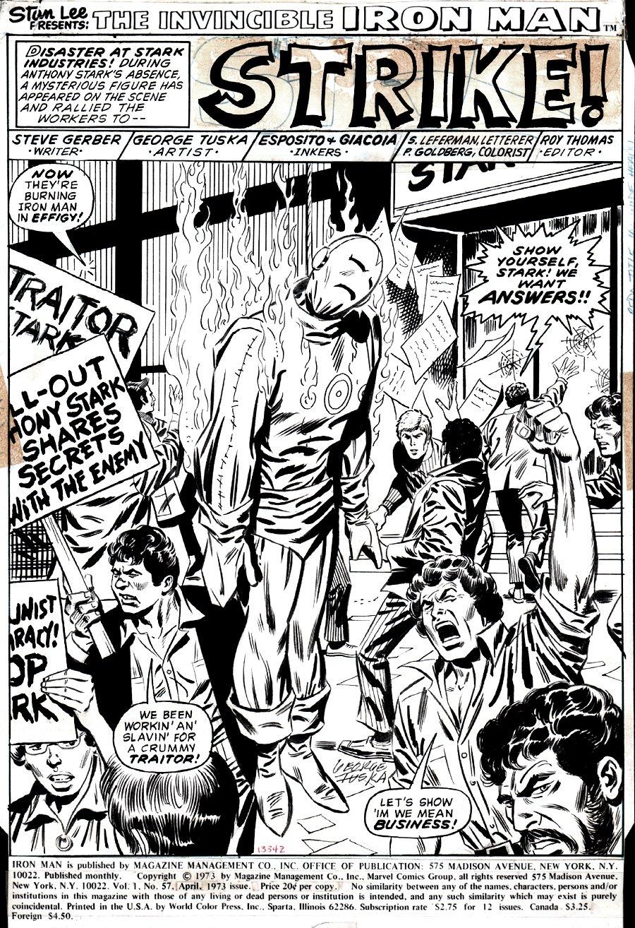 Iron Man #57 p 1 SPLASH (DONALD TRUMP RALLY SPLASH) 1972)