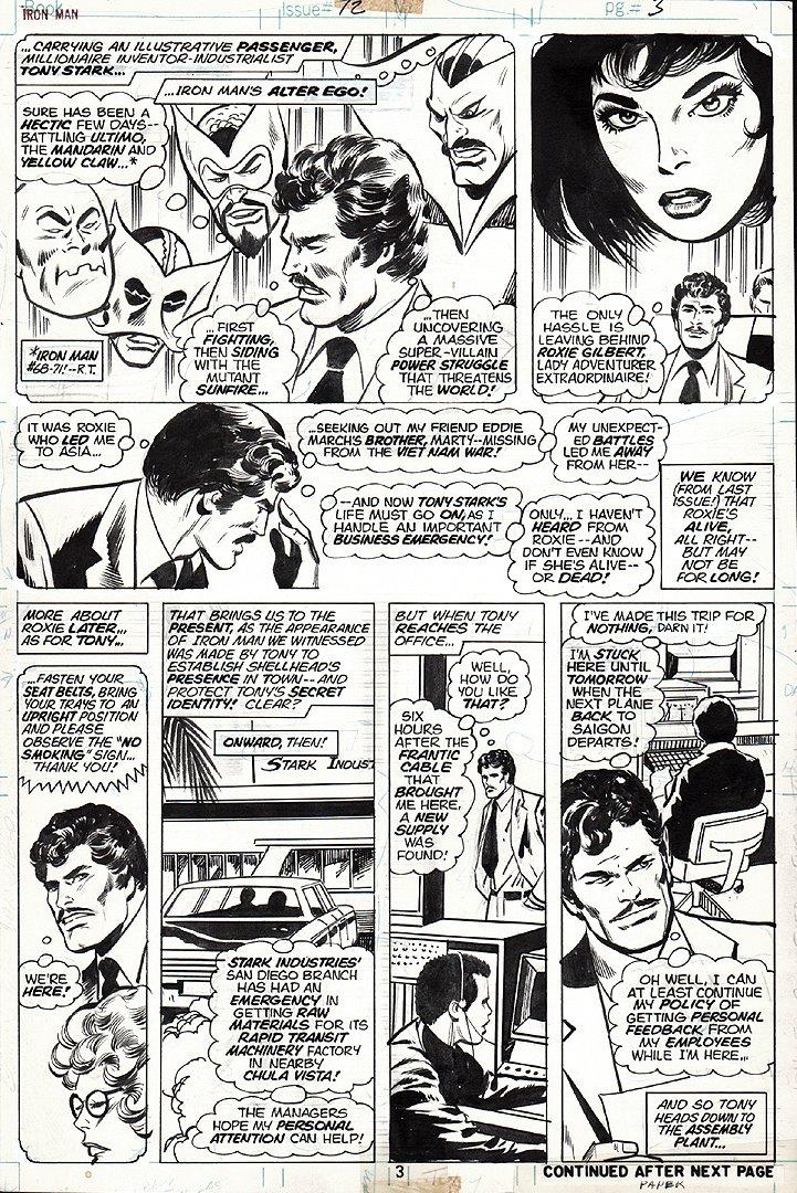 Iron Man #72 p 3 (1974)
