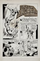 Fighting American #2 Complete 3 Page Story (Large Art) 1950s Comic Art