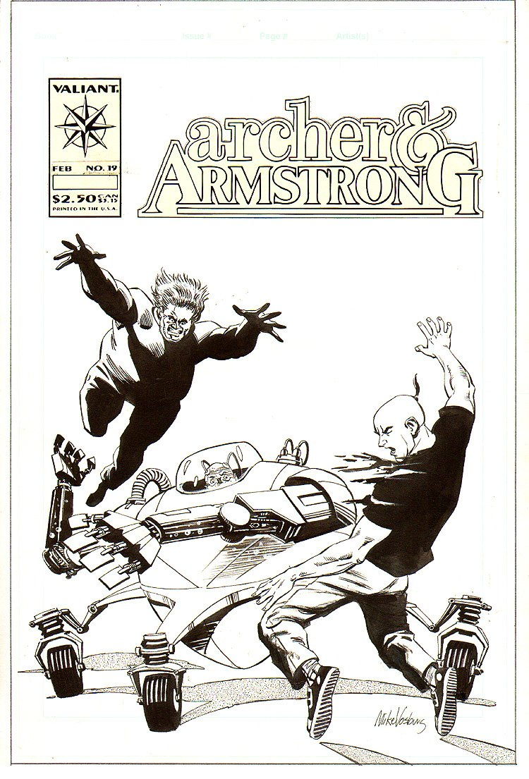 Archer And Armstrong #19 Unpublished Cover