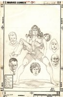 Savage She-Hulk Issue 15 Page Unpublished Penciled Cover (1981) Comic Art