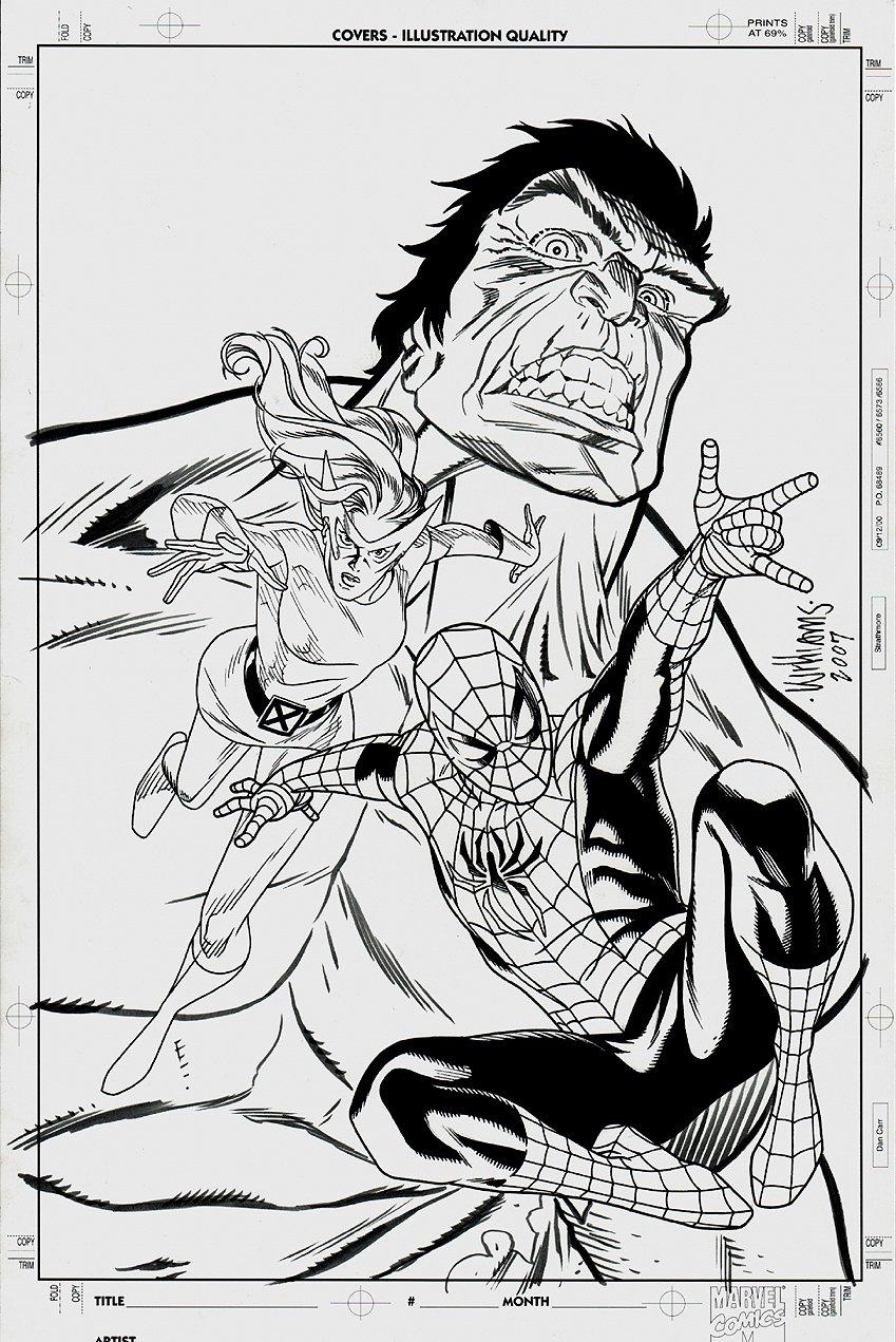 Spider-Man, Hulk, Marvel Girl Unknown Cover (2007)