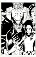 Wolverine: First Class #12 Cover (2008) Comic Art