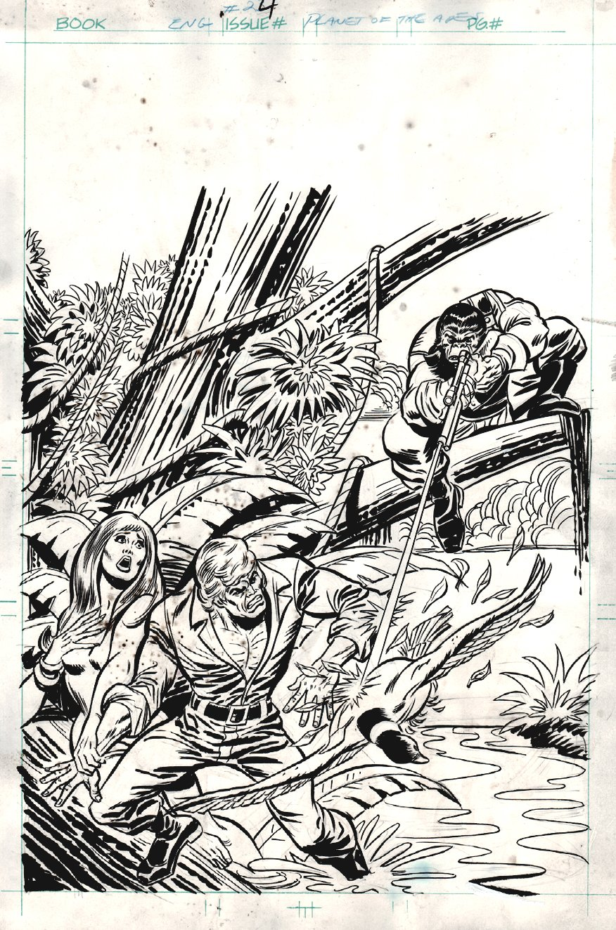 Planet of the Apes #24 Cover (1975)