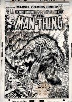 Man-Thing #7 Cover (1974) Comic Art