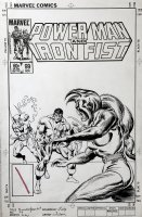 Power Man and Iron Fist #99 Un-Used Cover (1983) Issue j Comic Art