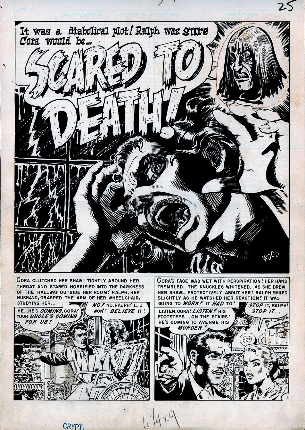 Tales From the Crypt #24 p 1 SPLASH (Large Art) 1951