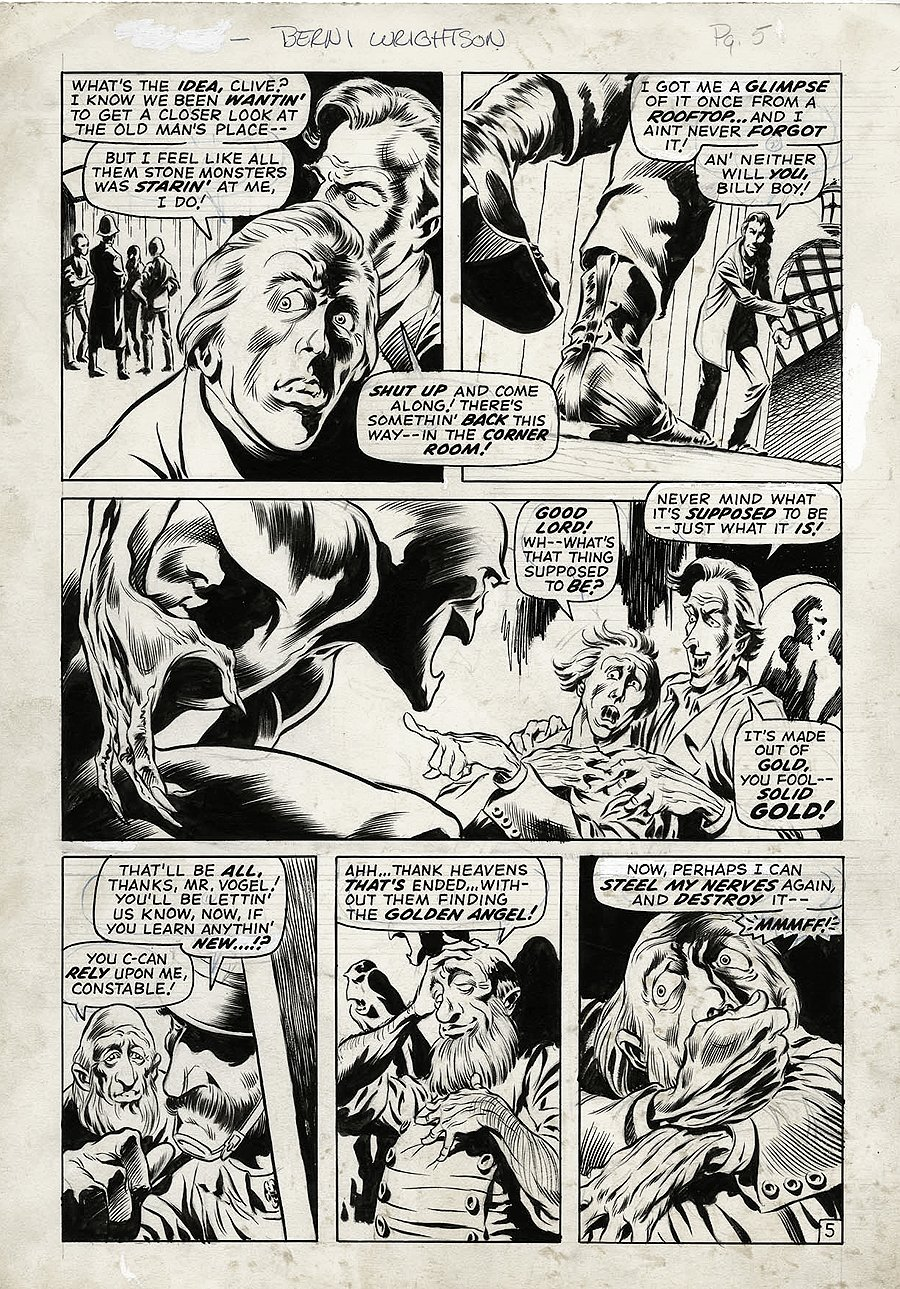 Chamber of Darkness #7 p 5 (VERY FIRST WRIGHTSON MARVEL STORY) 1970