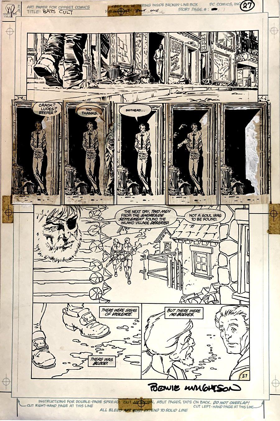 Batman: The Cult #1 p 27 (Large Art) 1988