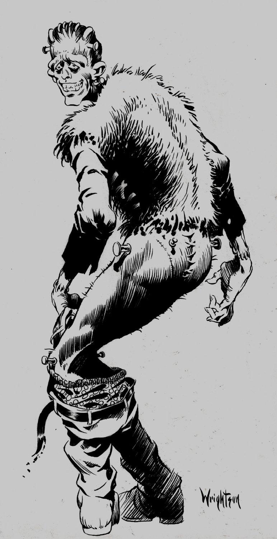 Published LARGE 'Frankenstein' Inside Back Cover, Spa-Fon #5 (1969)