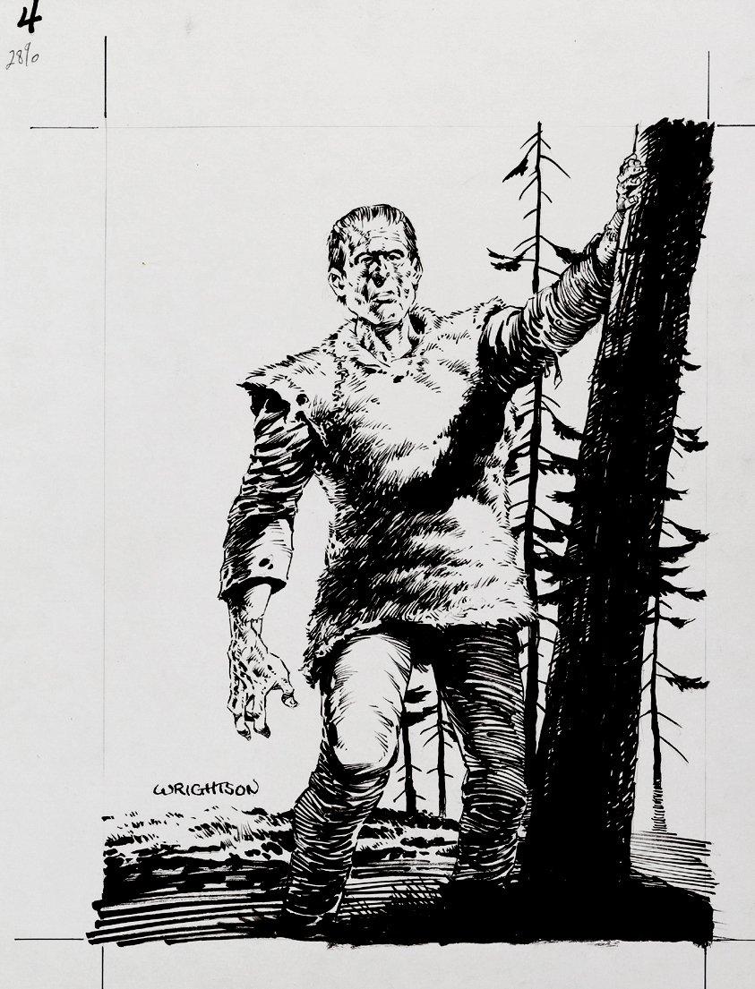 Master Of The Macabre Published  'Frankenstein's Monster' Illustration (1993)