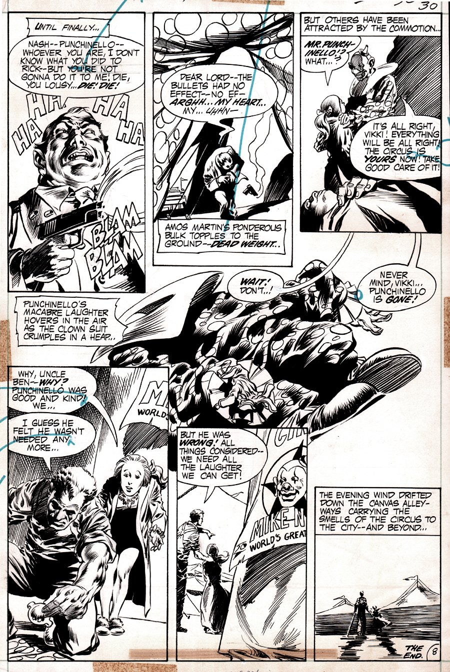 House of Mystery #221 p 8 (Last Page To Horror Story! WRIGHTSON / KALUTA!) 1973