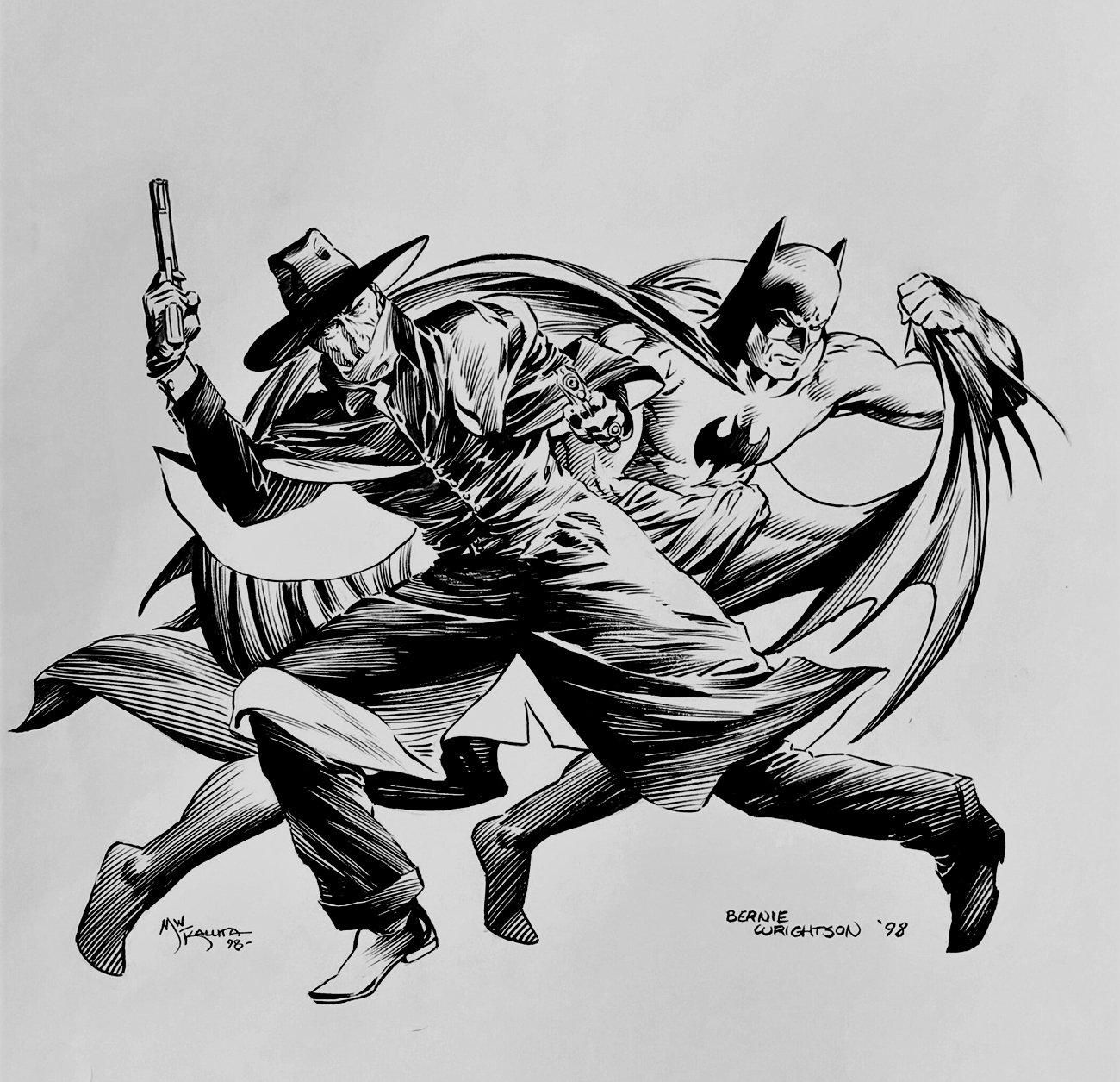 The Batman & The Shadow Illustration