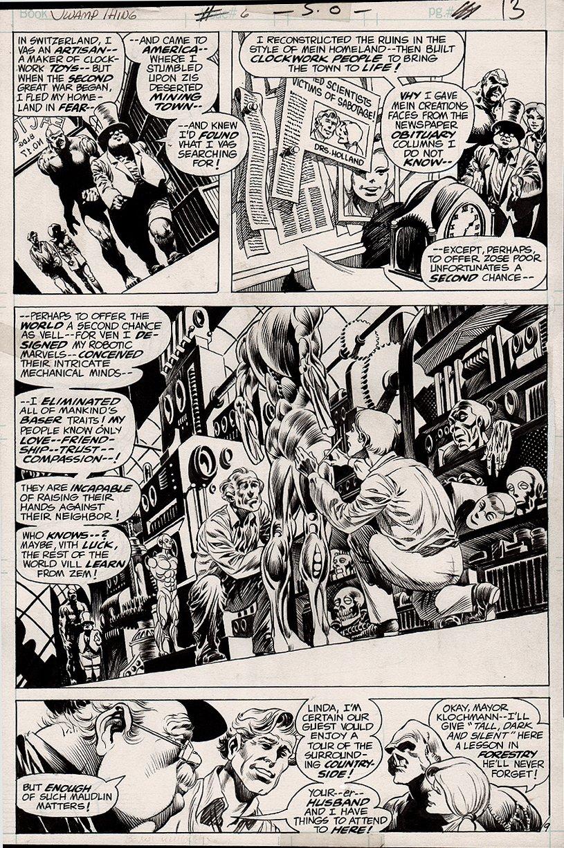 Swamp Thing #6 p 9 SPLASH (1973)