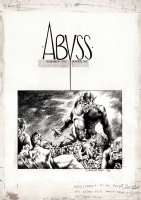 'The Abyss' Cover Art (1970) Comic Art