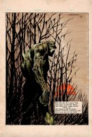 Swamp Thing (PRE-ISSUE #1 PUBLISHED DC AD ART PROMOTING SWAMPTHING #1) Drawn, Hand Colored, Hand Lettered Illustration All By Wrightson! 1972 Comic Art