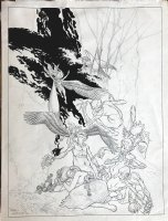 Very Large Trolls / Fairies Unfinished Poster Art Page k Comic Art