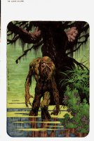 The Monsters Color The Creature 'SWAMP THING' Hand Colored Illustration (1974) Comic Art