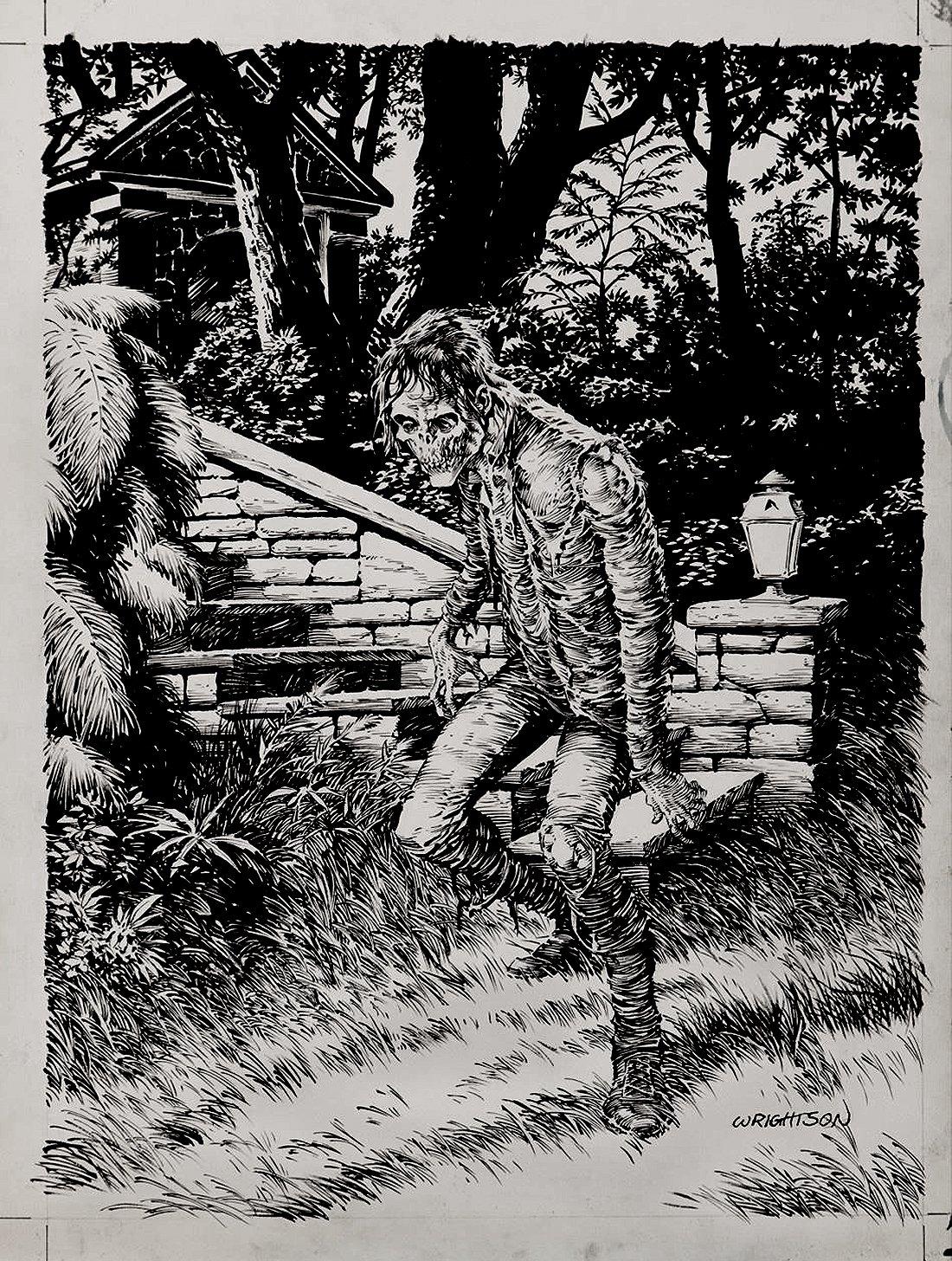 'Gardens of the Dead' Portfolio Cover Art(Large Art)