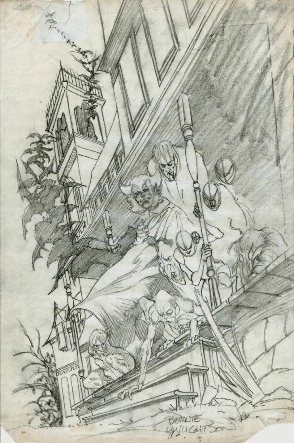 Tales From The House Of Mystery #2 cover pencils (1973)