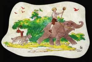 Swiss Family Robinson Colored Animation Drawing (1960s) Comic Art