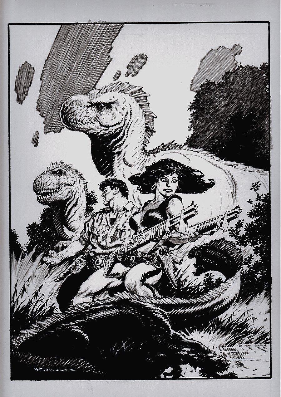 Comic Book Creator Magazine #15 and Xenozoic Cornered Published Cover (Oversized)