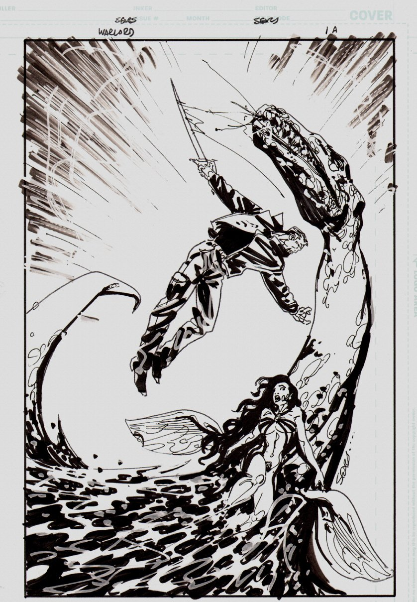 Warlord #1 Unpublished Cover (DC 2006)