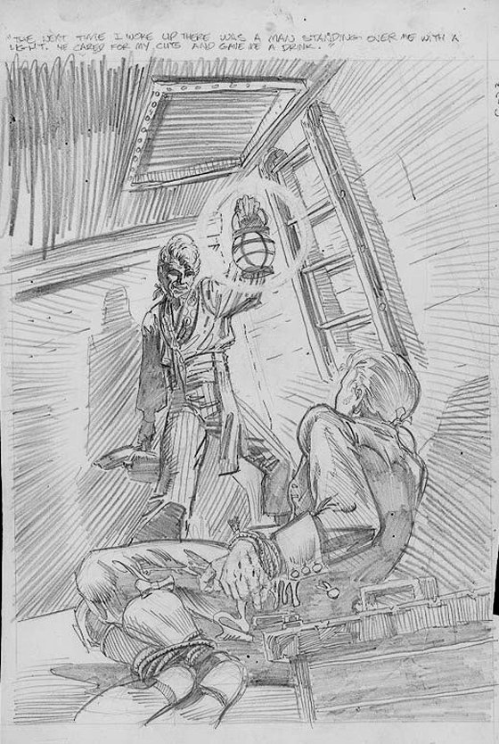 Unpublished Penciled Horror Cover
