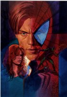 Spider-Man Movie Poster Painting (Published in WIZARD MAGAZINE) Mid 1990's Comic Art