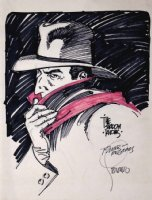 1970s SHADOW Pencil, Ink, Hand-Color Drawing Comic Art