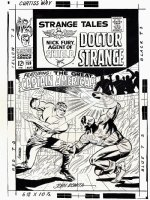 Strange Tales #159 'HISTORIC' Large Art Cover (You Get 2 COVERS...All Steranko Cover AND Romita Captain America Cover) 1967  Comic Art