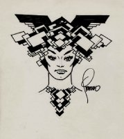 Futuristic 'HELA' Looking Female Drawing Comic Art