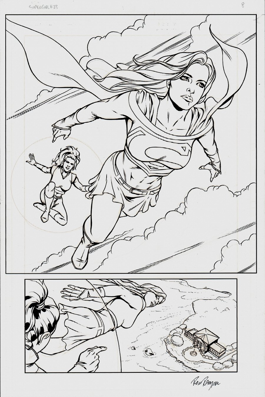 Supergirl: Way of the World #1 Cover 2008 (Also Published As Supergirl Splash Page)