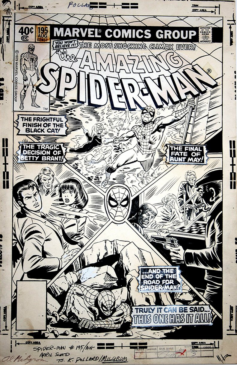 Amazing Spider-Man 195 Cover SOLD SOLD SOLD!