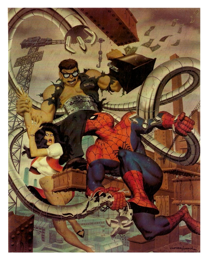 Amazing Spider-Man Portfolio Plate 'THE DOCTOR WILL KILL YOU NOW!' Painting (HUGE) 1981