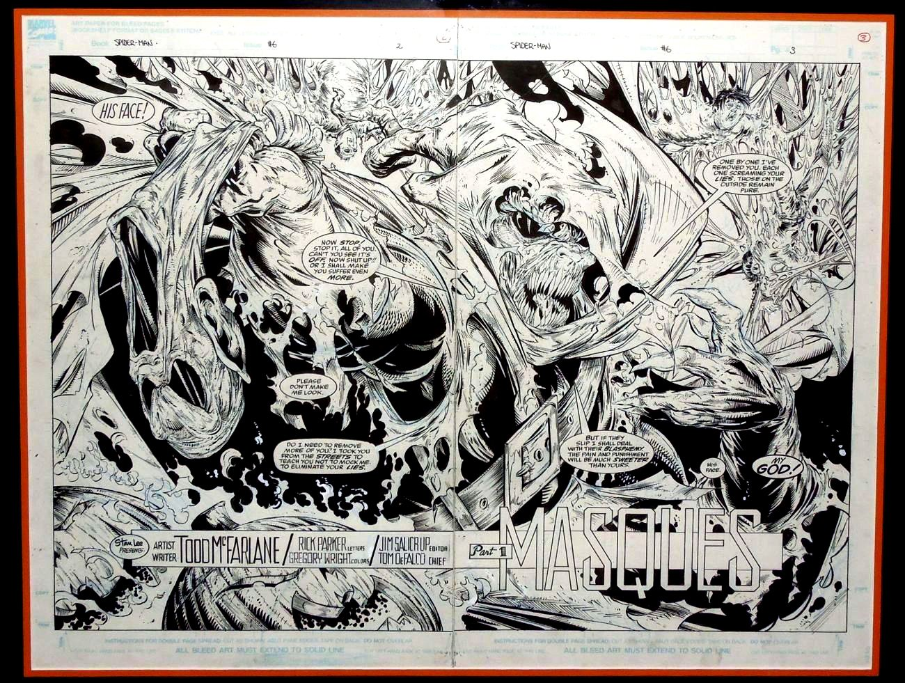 Spider-Man #6 p 2-3 Double Spread Splash (Very Large) SOLD SOLD SOLD!