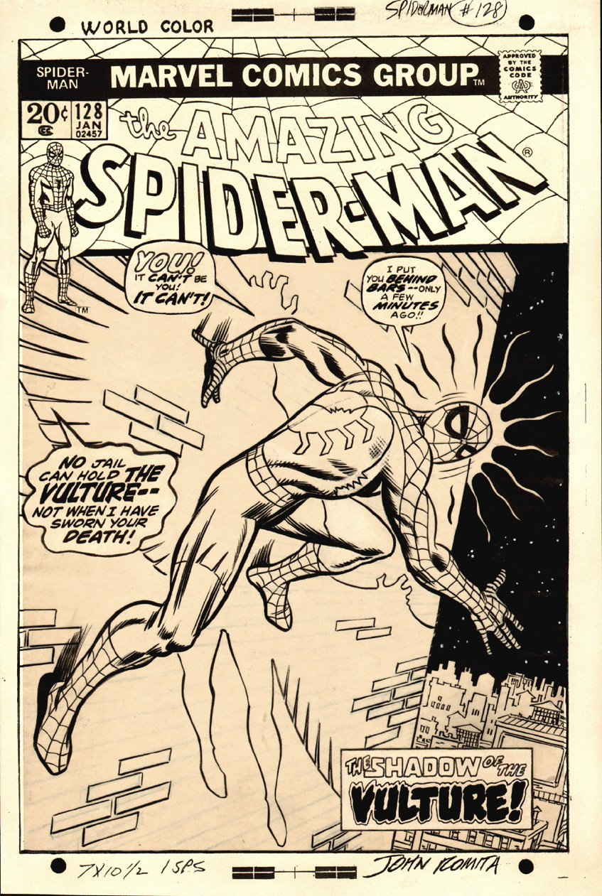 Amazing Spider-Man 128 Cover (1973) SOLD SOLD SOLD!