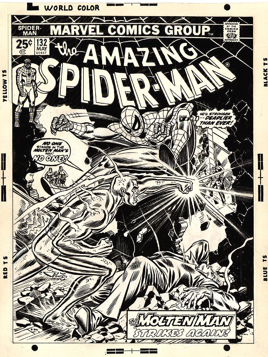 Amazing Spider-Man 132 Cover (LARGE ART!) 1974 SOLD SOLD SOLD!
