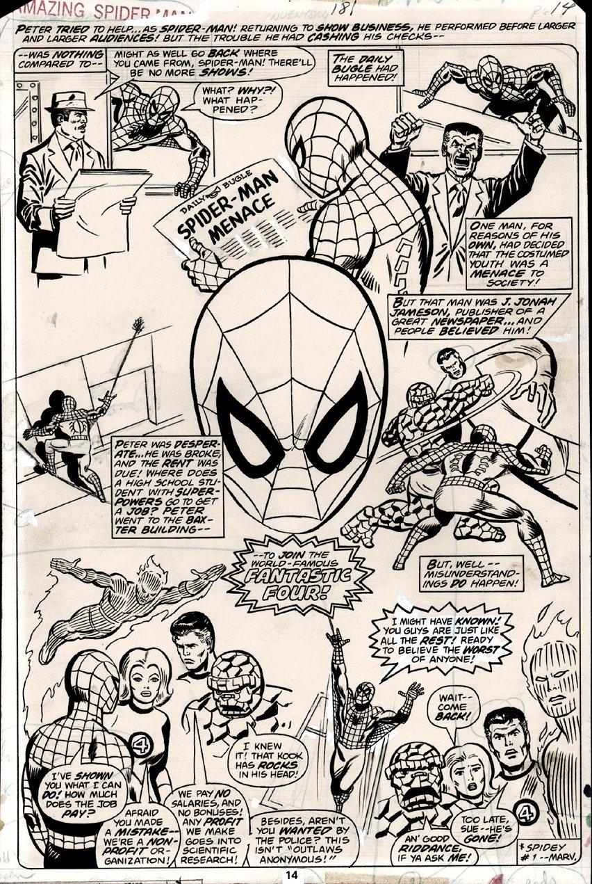 Amazing Spider-Man #181 p 14 SPLASH (1978) SOLD SOLD SOLD!