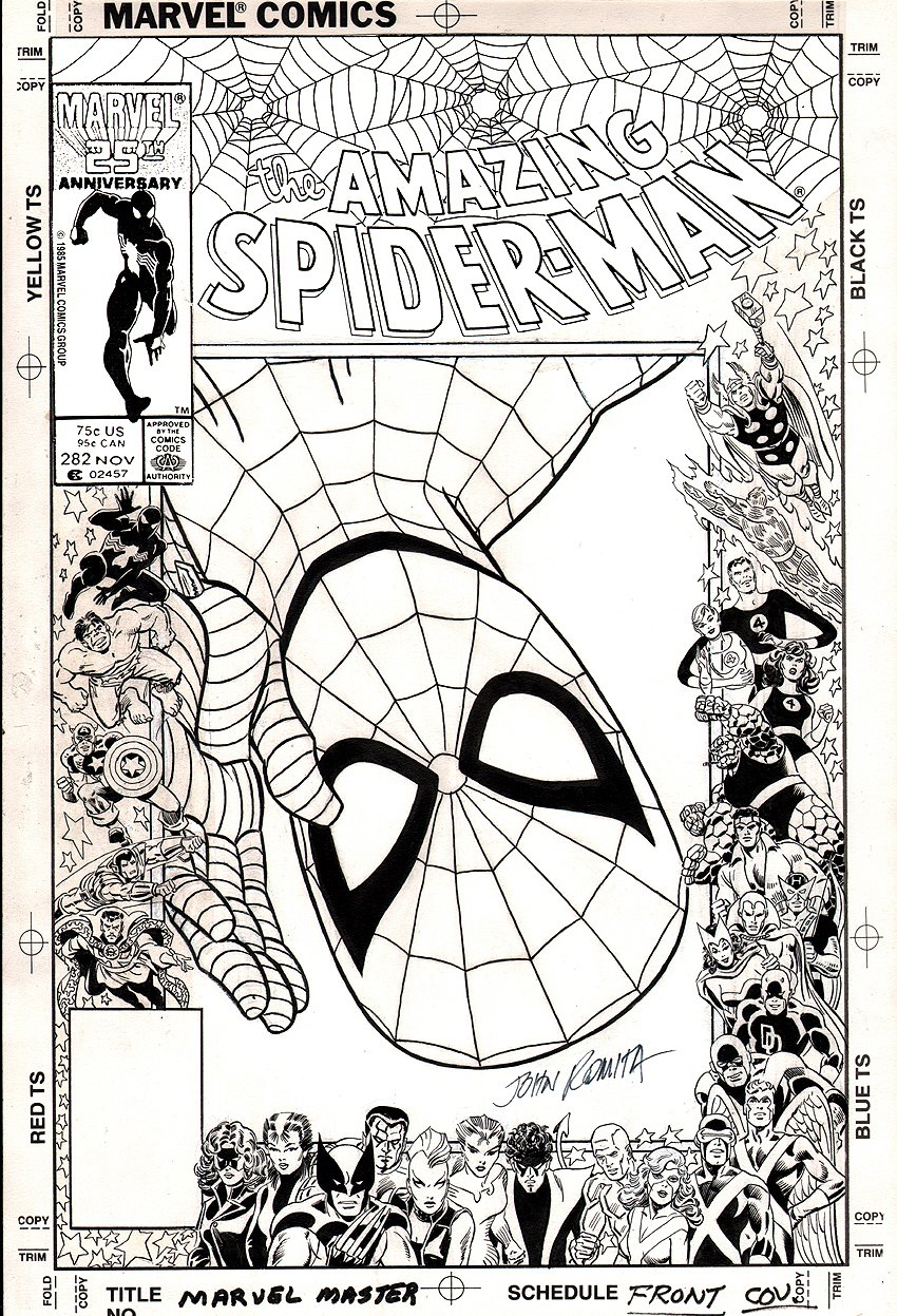 Amazing Spider-Man 282 Cover Art (1986) SOLD SOLD SOLD!