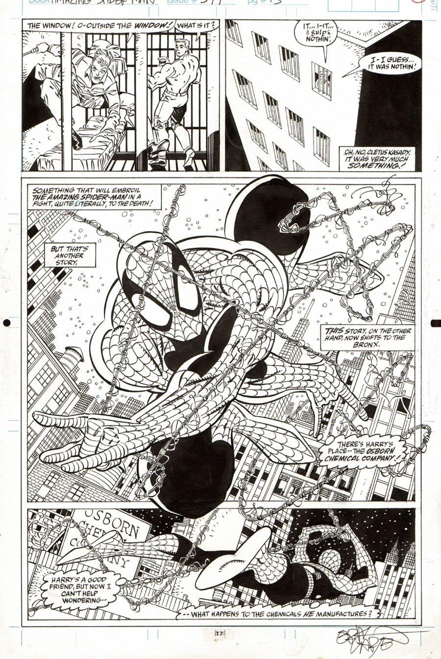 Amazing Spiderman #344 p 17 SPLASH (1990) SOLD SOLD SOLD!