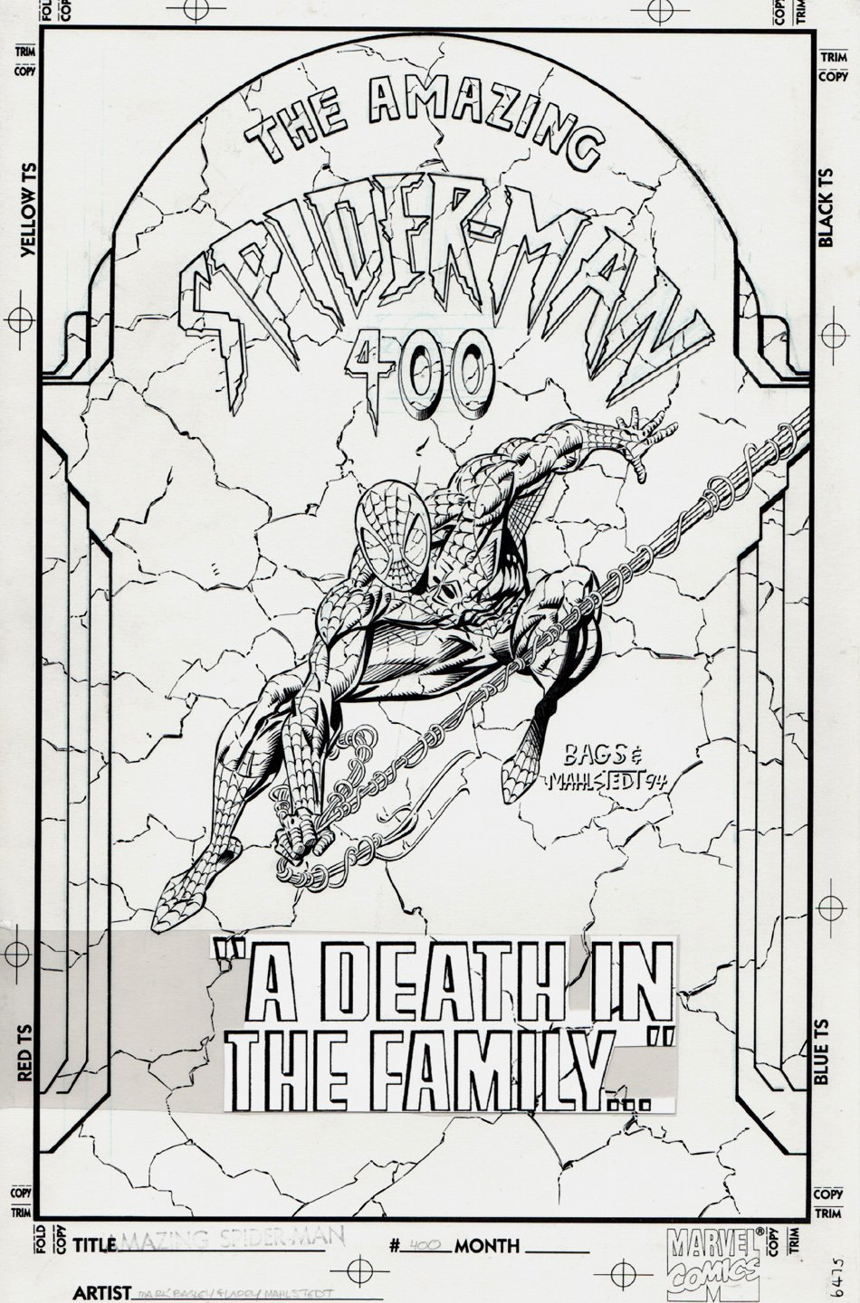 Amazing Spider-Man #400 Cover (1994) SOLD SOLD SOLD!
