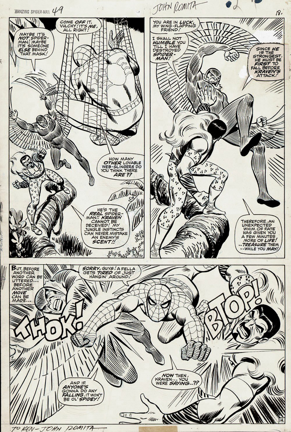 Amazing Spider-Man #49 p 14 (Large Art) 1967 SOLD!