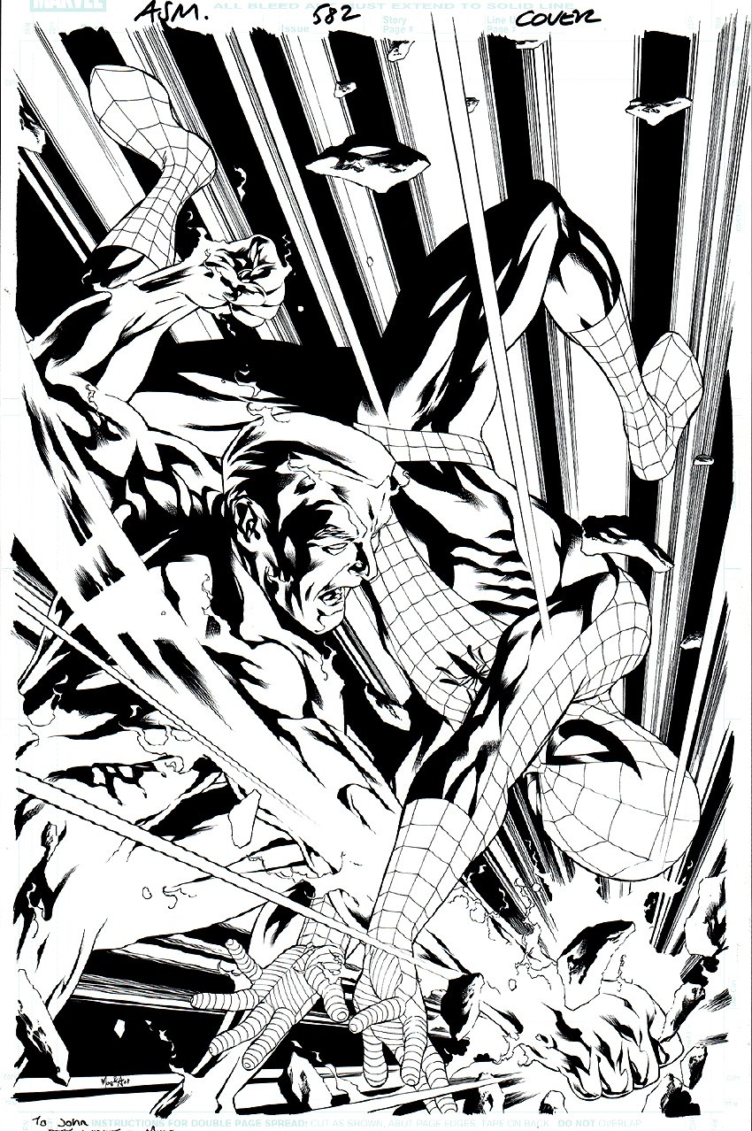 Amazing Spider-Man #582 Cover (2008) SOLD SOLD SOLD!